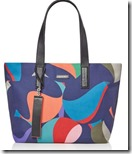 Paul Smith Marble Print Canvas Tote