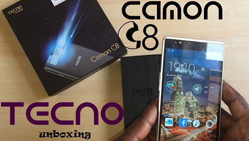 Tecno Camon C8 Unboxing, spec and review