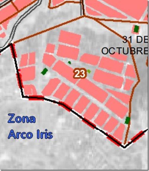 Arco Iris: zona del Distrito 1 de El Alto (Bolivia)