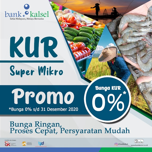 Siap Sambut Dana PEN Rp500 Miliar, Bank Kalsel Luncurkan KUR Super Mikro