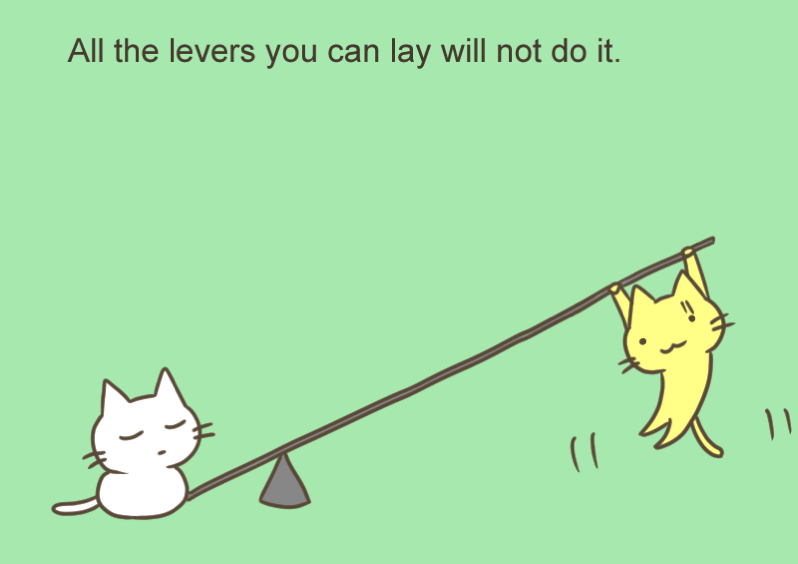All the levers you can lay will not do it