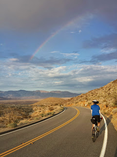 The long descent into Borrego Springs was epic and rainbow sparkly.