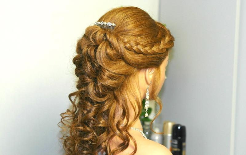 WATERFALL LOOK FOR AFRICAN BRIDE HAIR STYLES 9