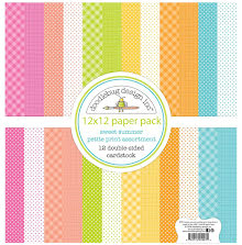 Doodlebug Petite Prints Double-Sided Cardstock 12X12 12/Pk - Sweet Summer