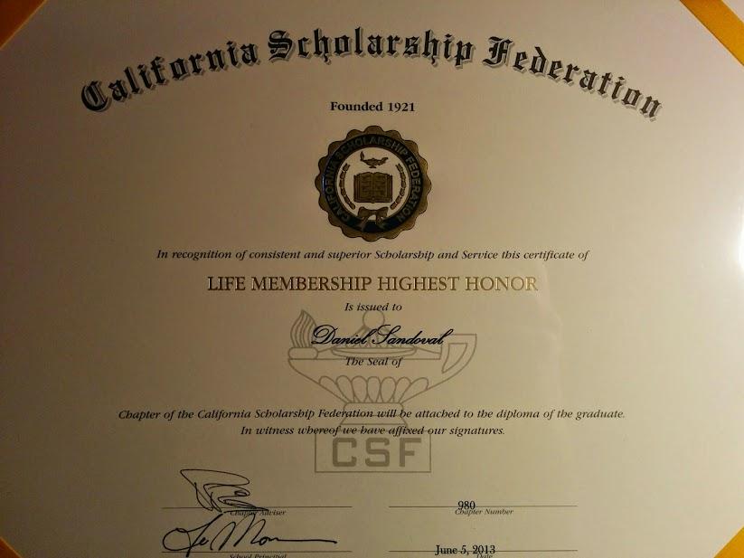 scholarships and awards career portfolio