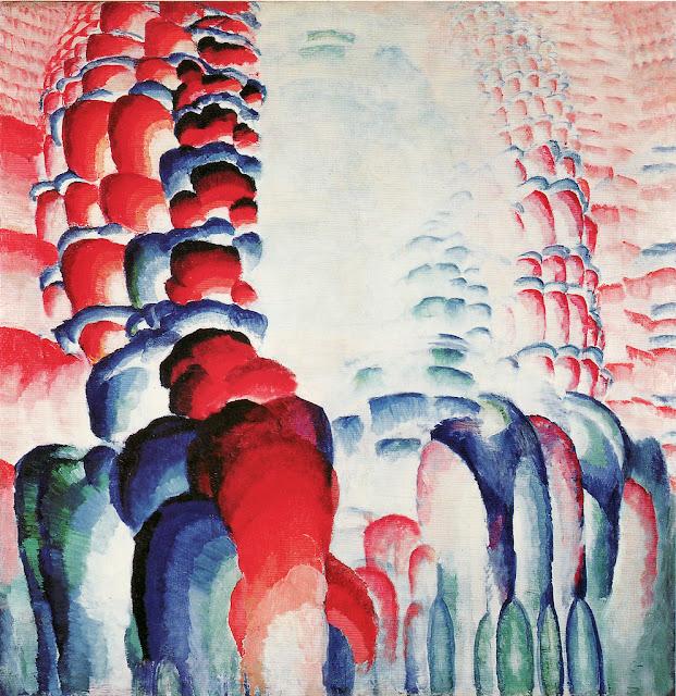 František Kupka - Hindu Motif, Red Gradations