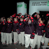 WWW.ENTSIMAGES.COM -  Olympic Games Makers at Enough Food for Everyone If - launch event world's first Twitter powered 3D projection show highlighting campaign created by over 100 major charities to stop world hunger at Somerset House, Strand, London January 23rd 2013                                                       Photo Mobis Photos/OIC 0203 174 1069