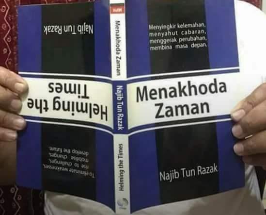Buku Najib Pegang Memang dah Terbalik kan?