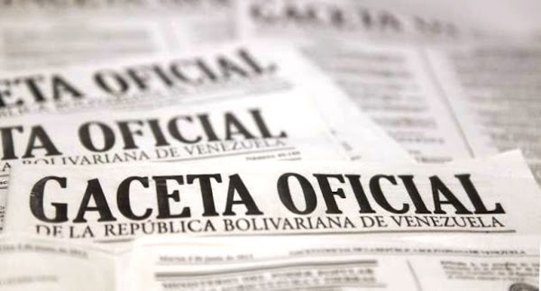 Gaceta Oficial extraordinaria 6229 de fecha Domingo 29/05/2016