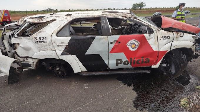 Acidente com viatura mata um policial de Araçatuba e deixa dois feridos em estado grave
