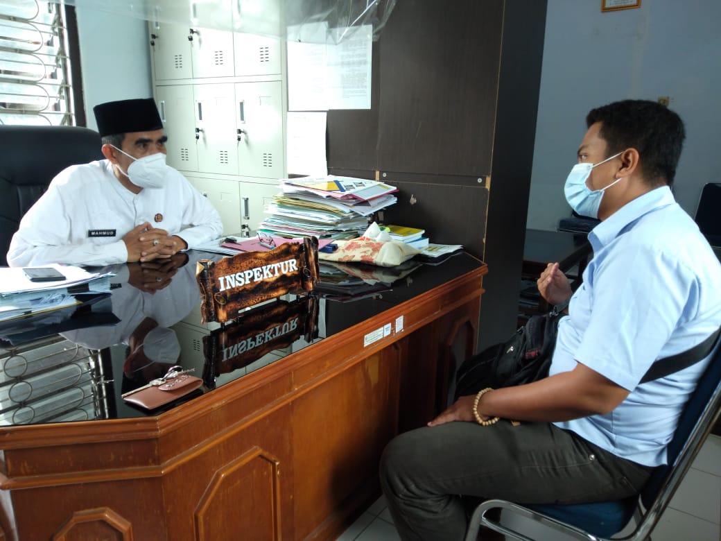 Didampingi LBH IWO, Rahmat Melaporkan SR Di Inspektorat Soppeng