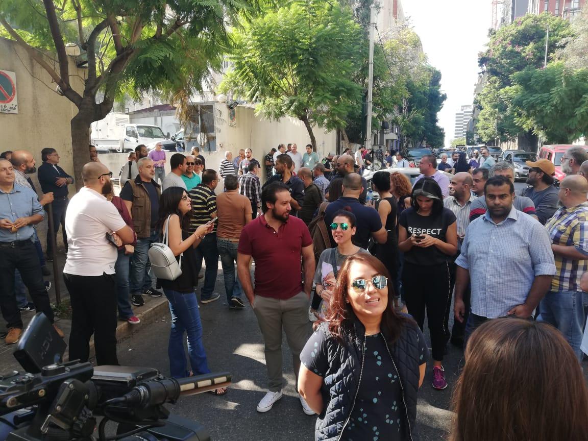 Image result for إعتصام لموظفي تلفزيون المستقبل