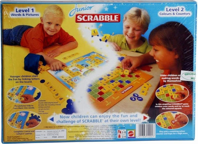 Sản phẩm Xếp chữ tiếng Anh Junior Scrabble Mattel 51319 chất lượng cao cấp an toàn