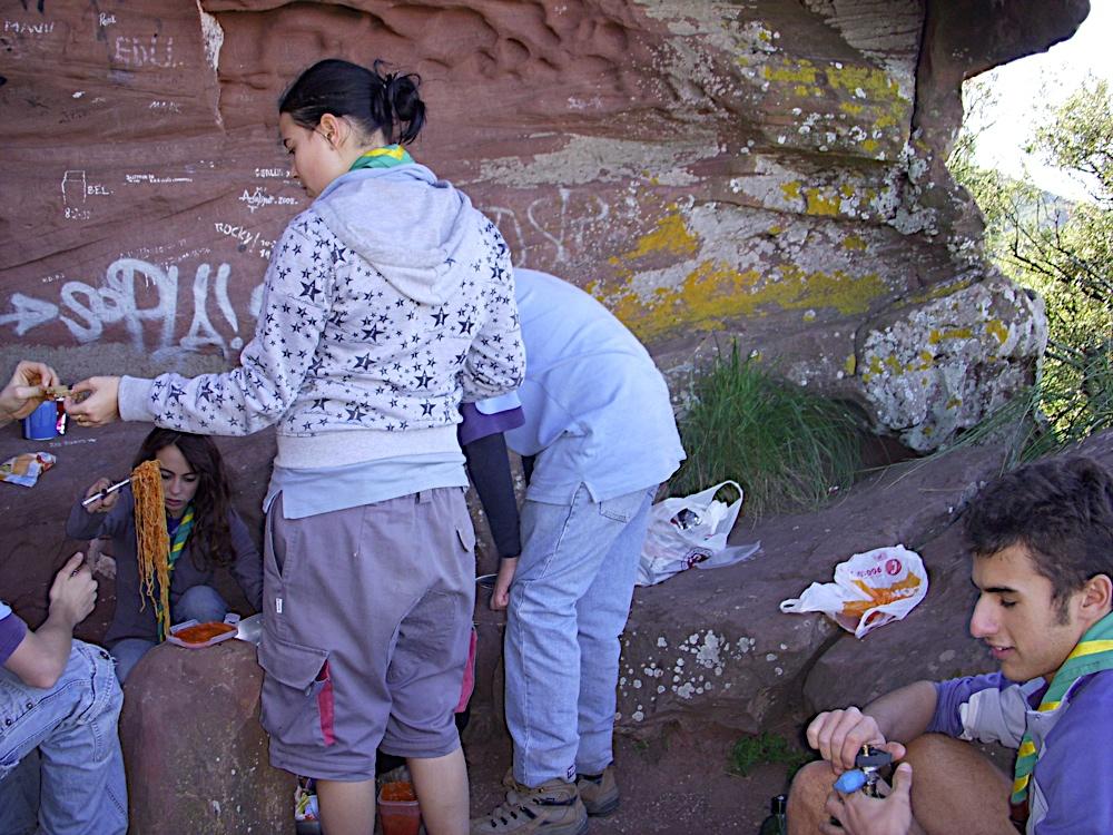Sortida Castell Eramprunyà - Pioners 2009 - DSCN1009.JPG