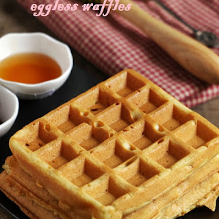 Eggless Waffle Recipe | Eggless Waffles