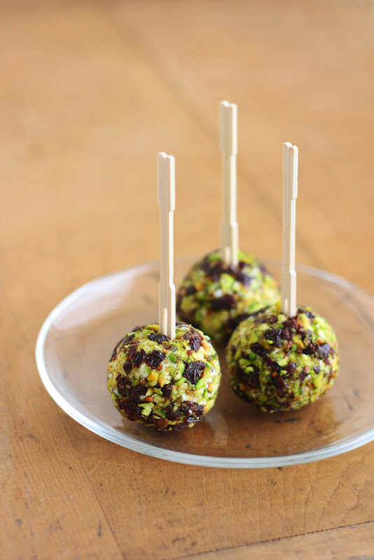 Cherry Pistachio Goat Cheese Balls