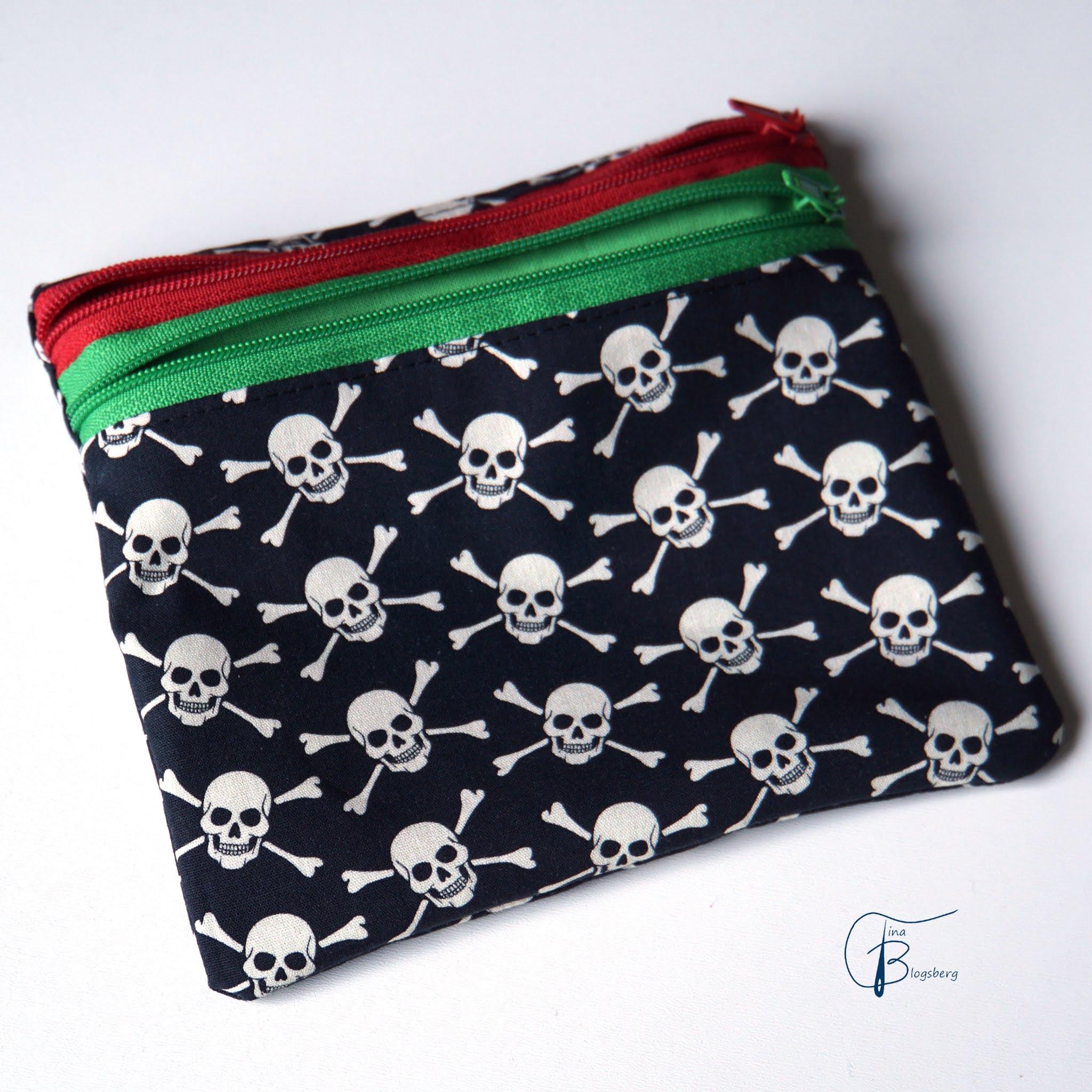 Maskentäschchen Piratenkopf 1