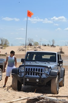 Bryce checking out the Jeep