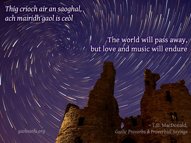 The world will pass away, but love and music will endure