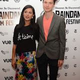 WWW.ENTSIMAGES.COM -    Farhana Bhula  and  Matthew Hammett Knott (Director)      arriving at        World Premiere of Bonobo at the 22nd annual Raindance Film Festival in Vue Piccadilly, London September 25th 2014Feature length which follows a straight laced middle-aged widow as she attempts to remove her daughter from a hippy commune.                                               Photo Mobis Photos/OIC 0203 174 1069