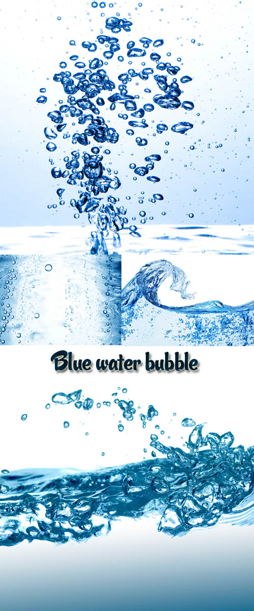 Stock Photo: Blue water bubble 2