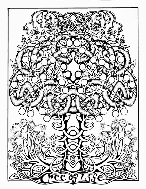 Almost All Kinds Of Tree Found In The Celtic Countries Have Been Thought To  Have Coloring Book Pagescoloring