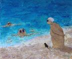199 - Neuf Cent Onze - 2007 50 x 61 - Aquarelle sur sable sur toile