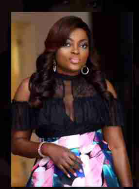 Funke Akindele Bello Shows A Hint Of Boob In new fashion