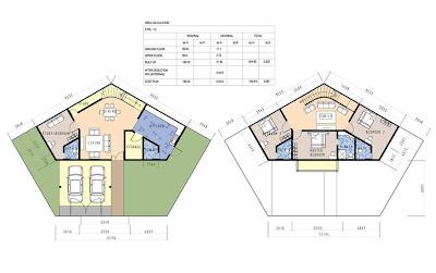 Modern triplex house plans joy studio design gallery for Honeycomb house floor plan