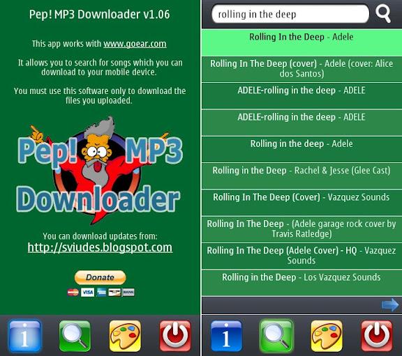 Pep! MP3 Downloader v1.06 - Phần mềm tải nhạc định dạng MP3