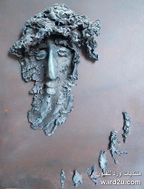 نحت على الحجر للنحات السورى عيدو الحسين Ido Alhussain