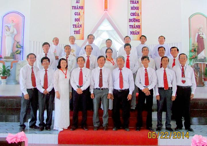 Ngày họp mặt, tuyên hứa và ra mắt Ban Chấp Hành Gia Đình Phạt Tạ Thánh Tâm Chúa Giêsu của hai Giáo hạt Cam Ranh và Cam Lâm