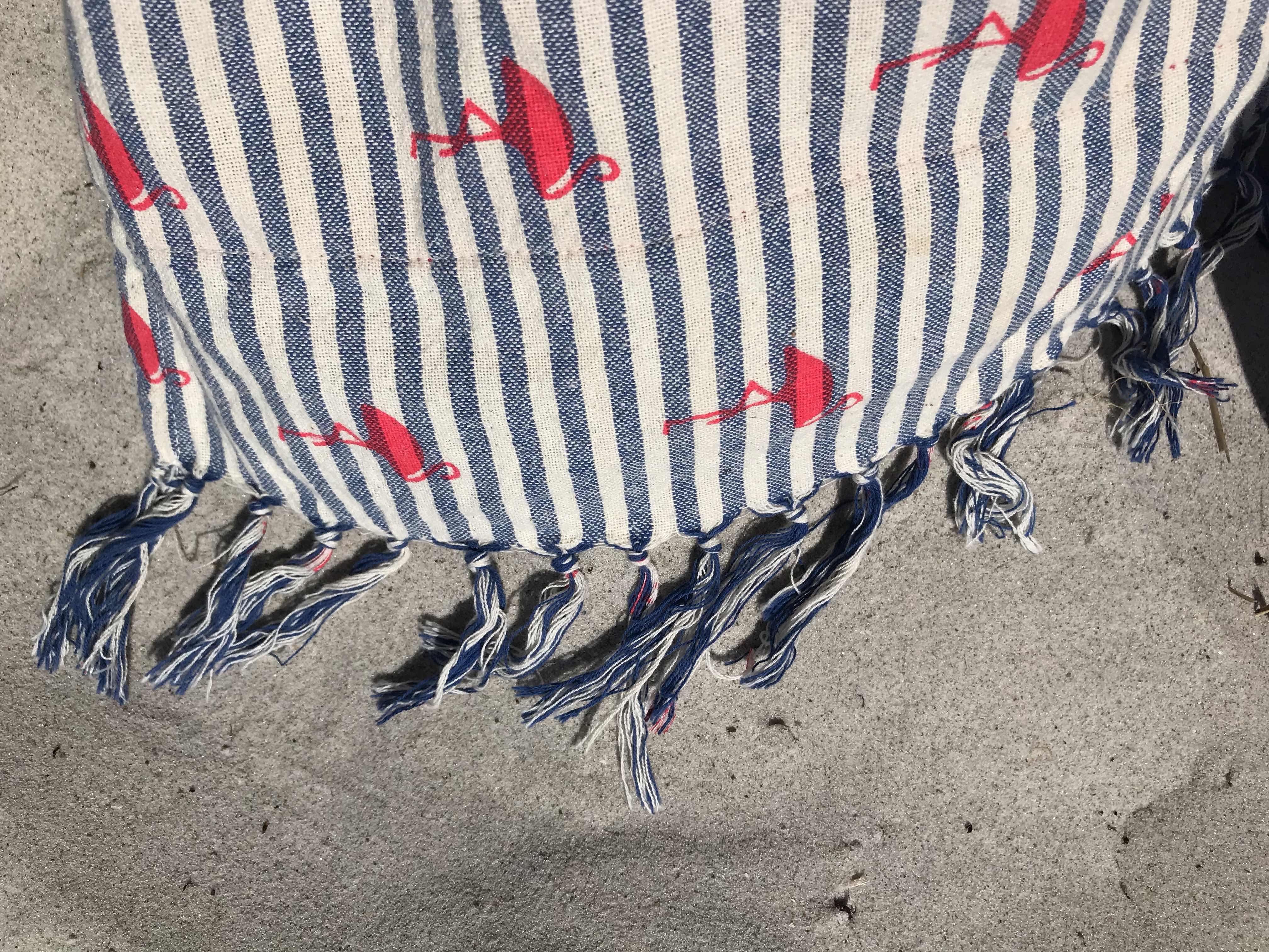 Handduk med flamingo