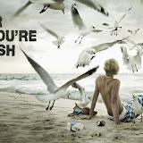 Плакат загрязнение водоемов Litter and you're rubbish Мусоришь - сам мусор