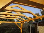 Überdachung mit Satteldach