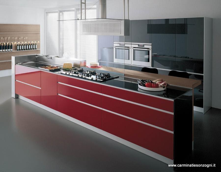 Cucine Moderne Bianche E Rosse. Best Cucine Lube Modelli Di Cucine ...