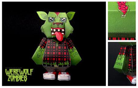 Werewolf Zombie Paper Toy