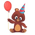 Cartoon Funny Bear Holding Baloon Free Download Vector CDR, AI, EPS and PNG Formats