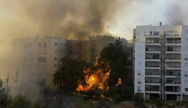 Kebakaran israel 60 ribu warga diungsikan