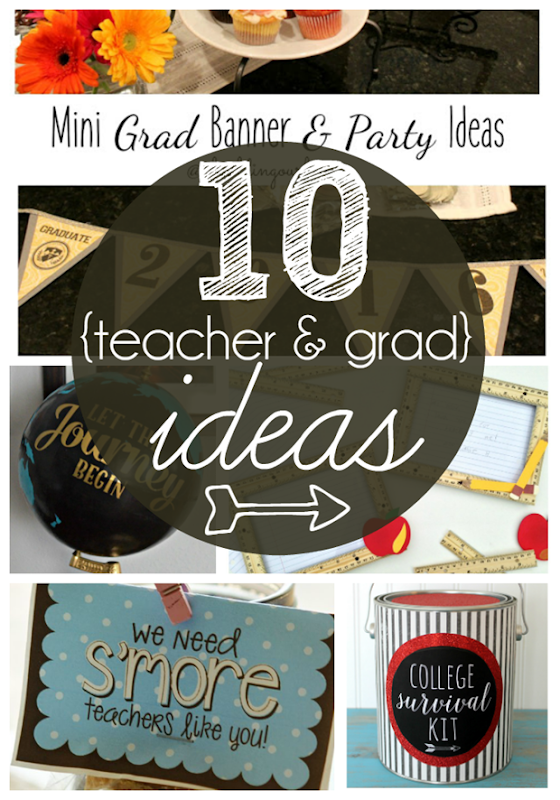 10 Teacher & Grad Ideas at GingerSnapCrafts.com #teacher #grad #giftideas