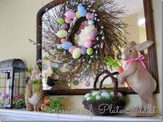CONFESSIONS OF A PLATE ADDICT Whimsical Easter Mantel