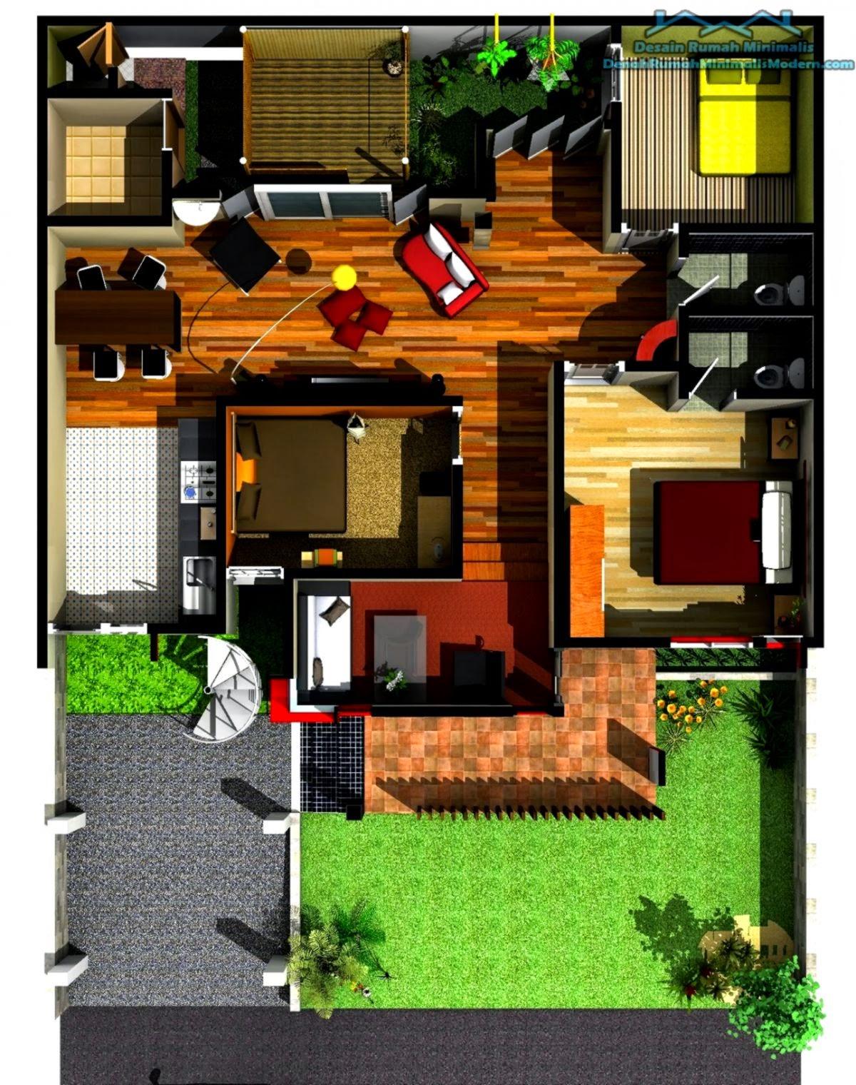 Gambar Rumah Dan Denah Rumah Minimalis Gallery Taman Minimalis
