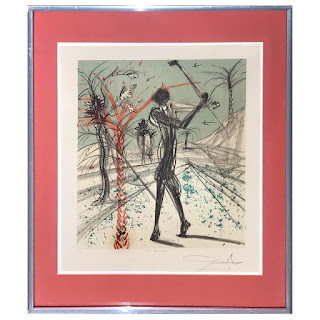 Salvador Dali Signed 'The Golfer' Lithograph