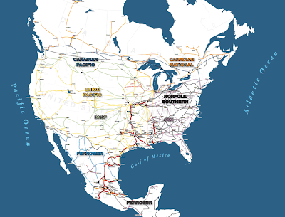 North American Railway Map