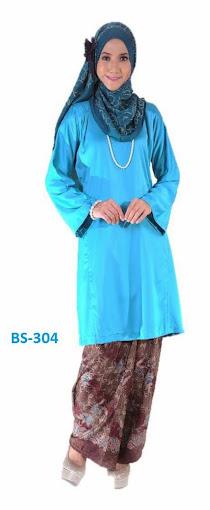 Mini Kurung Baju Kurung Malaysia Biru Turqoise Terkini 2014 Raya
