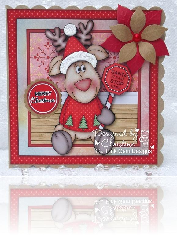 Santa stop here Reindeer