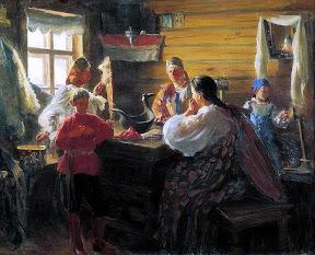 Иван Куликов Зимним вечером. 1907
