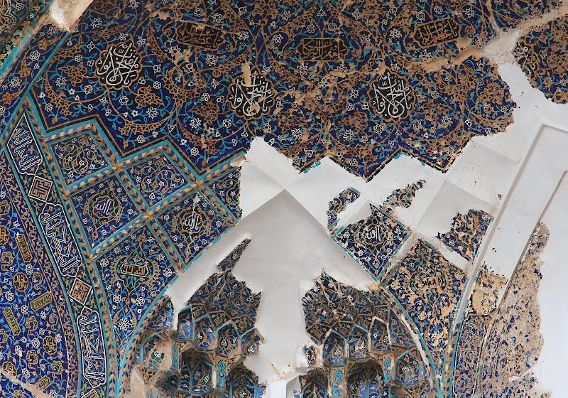Błękitny meczet w rozsypce