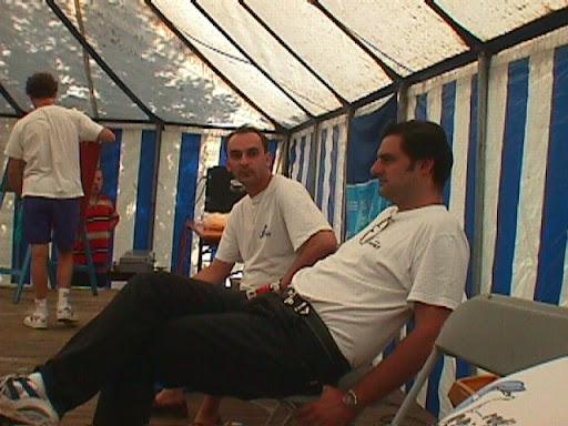 Dolfijne Productions - Fietstocht Voorshoven 16-08-1998 - Eddy Taxxus & Mark Gerads.JPG