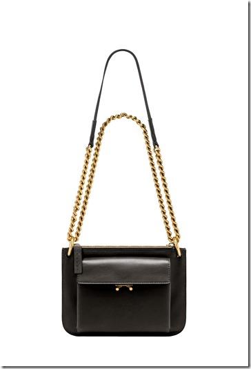 MARNI POCKET BAG in black leather